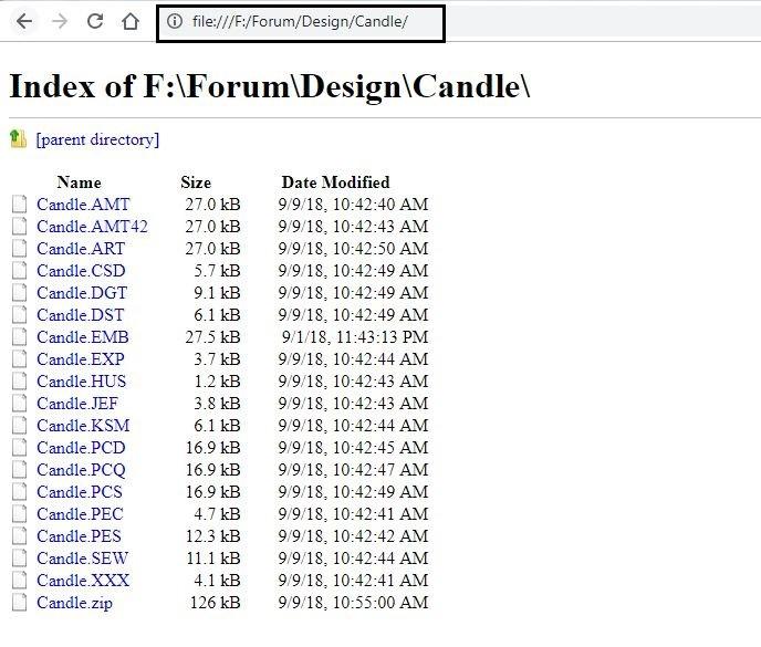 Export file names to Excel sheet (Webpage method)- step 2