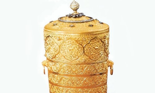 Stealing was Not Enough Thieves Had to Eat out of The Golden Tiff-in Box