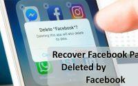 How To Recover Facebook Page Deleted By Facebook