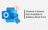 Outlook Contacts Not Available In Address Book