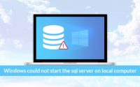 Resolve Windows Could Not start the SQL Server on Local Computer Manually