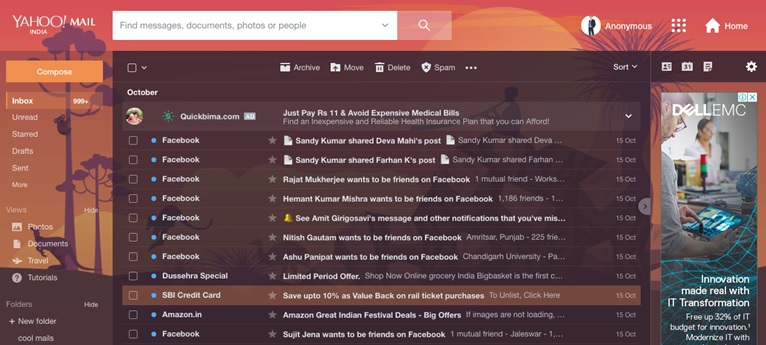 Check Yahoo Mails