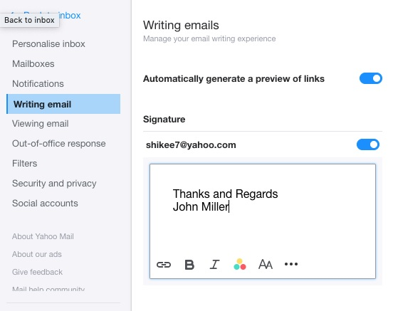 Personalized Email Signatures