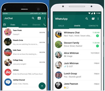 Features of Jio Chat