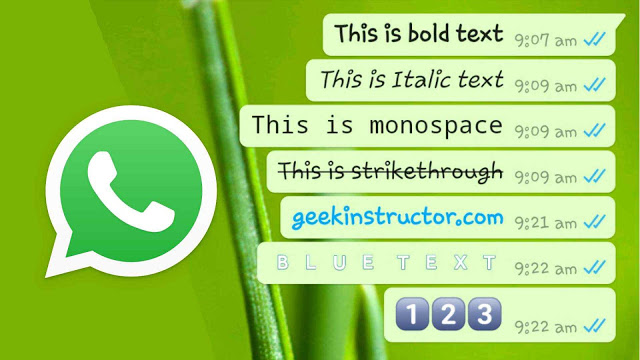 How to Change Fonts of Whatsapp Text