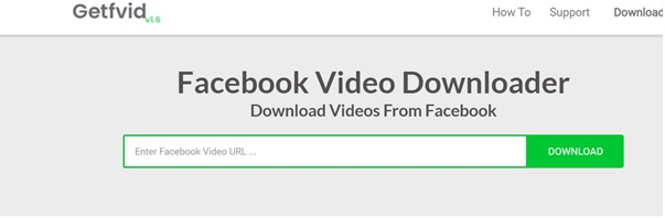 Download Facebook videos using Getfvid